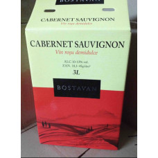 Вино Bostavan Cabernet Sauvignon 3 литра (красное)